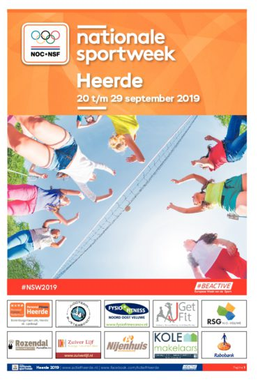Nationale Sportweek Heerde